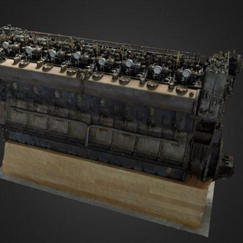 MAN motor 3D scan